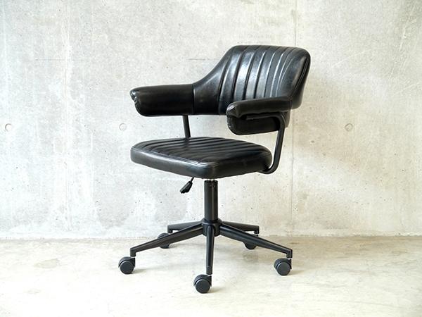 デスク用チェア パソコンチェア オフィスチェアー 書斎椅子 キャスター付き ワークチェア ゲイズ チェア ブラック おしゃれ レトロ モダン ミッドセンチュリー 高級感