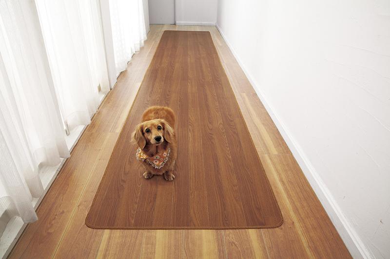 最高の品質 送料無料 木目調廊下敷きブラウン 80×440cm 廊下用カーペット 廊下 ラグ マット キッチンマット フローリング シンプル, エアプロ 2237b768