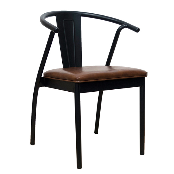 カフェチェア 単品 スタッキング ダイニングチェアー スチール リビング キッチン 腰掛け カフェ 椅子 いす 食卓椅子 ブルックリン インダストリアル 西海岸 男前インテリア おしゃれ