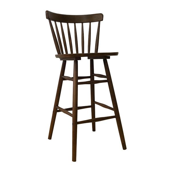 ハイチェア 木製 カウンターチェアー 背もたれ付き ラバーウッド 北欧 バーチェア イス チェア いす 椅子 カフェ ダイニングチェア ミッドセンチュリー インダストリアル ブルックリン おしゃれ