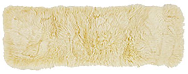 送料無料 ムートンクッション 長毛 厚手 羊毛皮 座布団 ロングクッション ベージュ 約38×120cm クッション おしゃれ かわいい 高級感