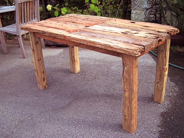 流木テーブル 単品 チーク 木製 ガーデンテーブル 机 テラス アウトドア おしゃれ モダン