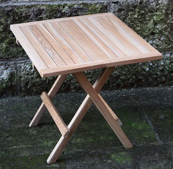 スコラテーブル 単品 チーク 木製 ガーデンテーブル 机 テラス カフェ アウトドア おしゃれ モダン