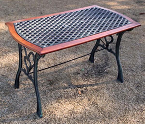 クロステーブル 単品 ガーデンテーブル 机 テラス カフェ アウトドア おしゃれ モダン