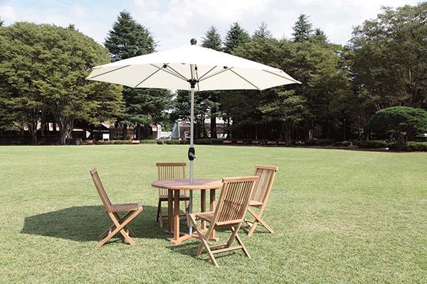 クリーム おしゃれ 屋外 パラソル 日よけ 日除け ベース別売り カフェ ガーデンパラソル 2.7mΦ アルミアンブレラ 庭 アウトドア