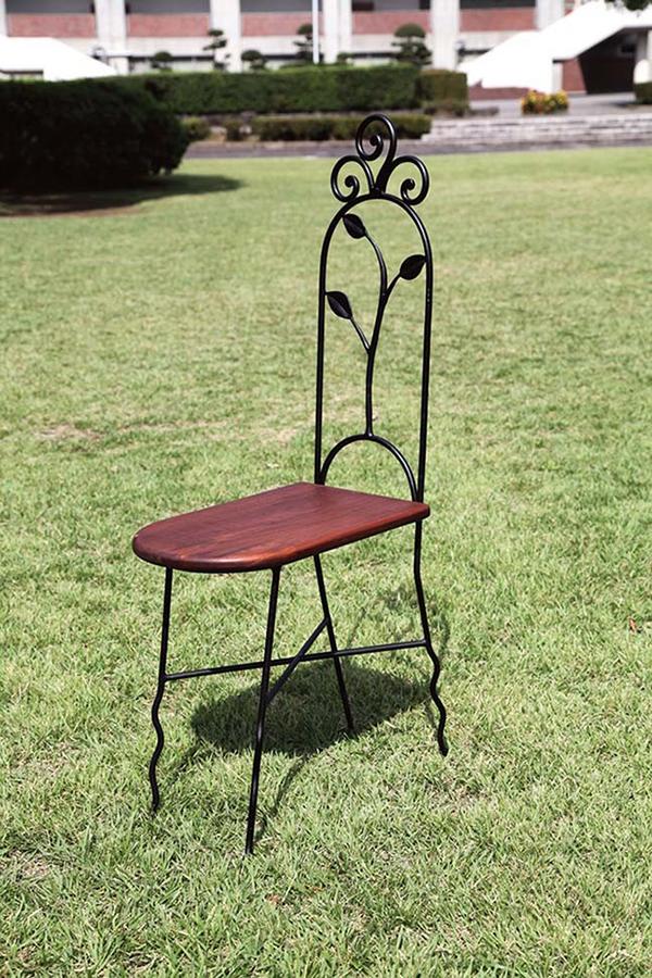 スリムチェアN型 木製 チーク アイアン ガーデンチェアー 1人掛け いす 椅子 ひとりがけ チェア テラス カフェ おしゃれ モダン レトロ 高級感