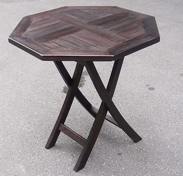 ポピュラー 折り畳みテーブル 単品 チーク 木製 折りたたみ ガーデンテーブル 机 テラス アウトドア おしゃれ モダン
