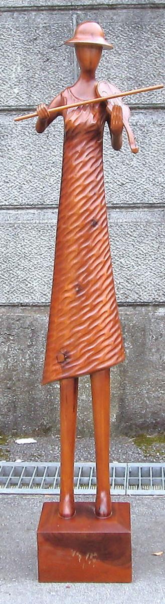 ミュージック人形 L バイオリン ガーデンアクセサリー オーナメント オブジェ インテリア 雑貨 アンティーク おしゃれ