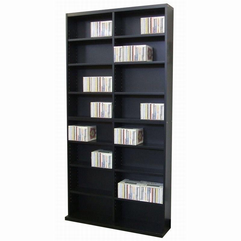 送料無料 収納 ラック DVD CDラック 本棚 収納棚 おしゃれ 大容量 収納ラック オープンラック リビング 書斎 書棚 シンプル