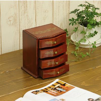 送料無料 天然木 木製収納 小引出し スクエアードロワー4段M 12個セット 卓上 収納 チェスト 小物 収納ボックス 整理 文房具 ボックス アクセサリーボックス デスク上 おしゃれ 高級感