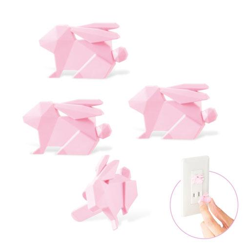 専門店 エレコム 誕生日 お祝い コンセントキャップ ホコリ防止 難燃性樹脂 ウサギ ピンク T-CAPKAKU2