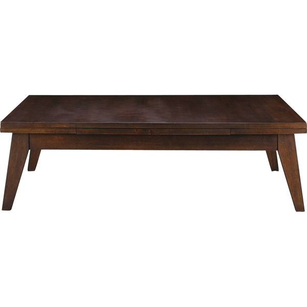 伸長式テーブル 幅120-180cm 座卓 伸縮テーブル エクステンションテーブル センターテーブル ローテーブル リビングテーブル コーヒーテーブル カフェテーブル 机 つくえ 作業台 木製 木目 モダン 北欧 西海岸 おしゃれ かわいい ブラウン