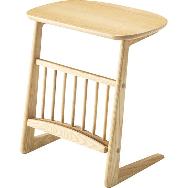サイドテーブル 幅55cm 木製 収納 マガジンラック スリム コンパクト ナイトテーブル ベッドサイドテーブル ソファーサイドテーブル レトロ モダン 北欧 ブルックリン 西海岸 男前 インテリア おしゃれ アンティーク ナチュラル