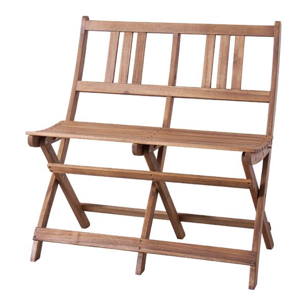 フォールディングベンチ おりたたみベンチ 折り畳み 幅80cm 2人掛け 食卓椅子 チェアー チェア ダイニングチェアー イス 椅子 木製 二人掛け 2人掛け ベンチチェア 北欧 おしゃれ アンティーク 西海岸ブルックリン