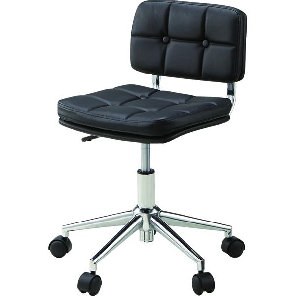 オフィスチェア キャスター付き ローバック 合皮 レザー 事務椅子 パソコンチェア デスクチェア デスク チェアー 学習椅子 学習チェア キッズチェア おしゃれ ブラック