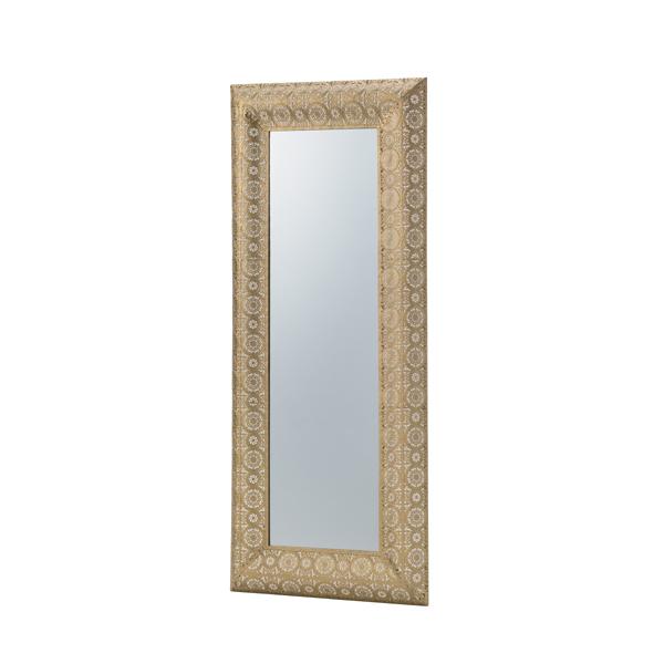 鏡 壁掛け 壁掛 コンパクト スチール ウォールミラー ミラー かがみ カガミ レトロ アンティーク レトロ モダンヨーロピアン おしゃれ ゴールド