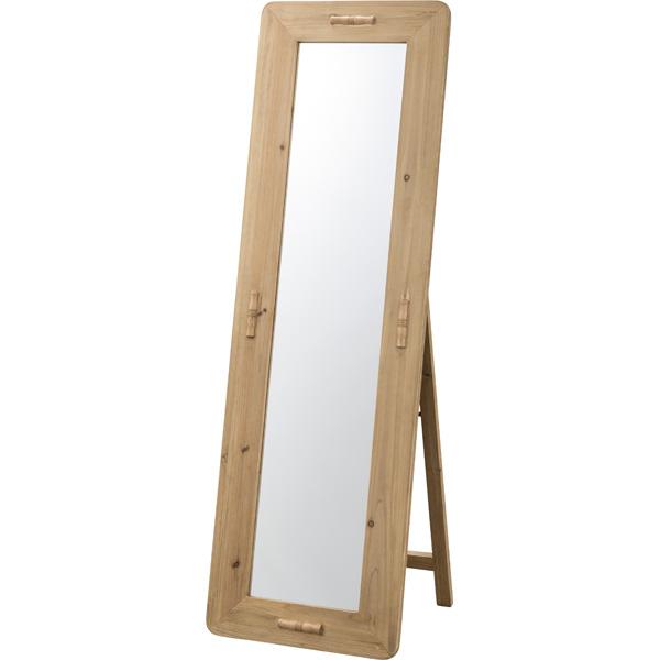 スタンドミラー 姿見 全身 飛散防止ミラー 木製 木目 アンティーク ミラー 鏡 全身鏡 かがみ カガミ モダン 美容院 店舗 カフェ サロン レトロ モダン ブルックリン 西海岸 おしゃれ