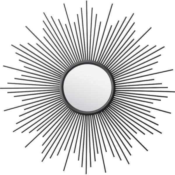 鏡 壁掛け スチール ウォールミラー ミラー 壁掛 かがみ カガミ レトロ アンティーク レトロ モダンヨーロピアン おしゃれ ブラック