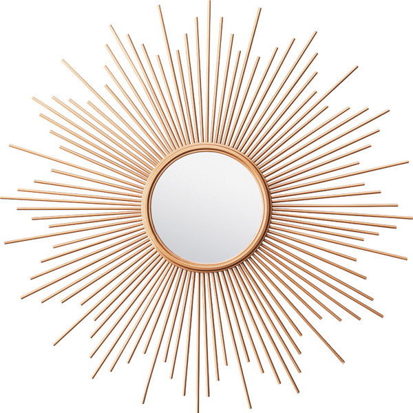 鏡 壁掛け スチール ウォールミラー ミラー 壁掛 かがみ カガミ レトロ アンティーク レトロ モダンヨーロピアン おしゃれ ゴールド