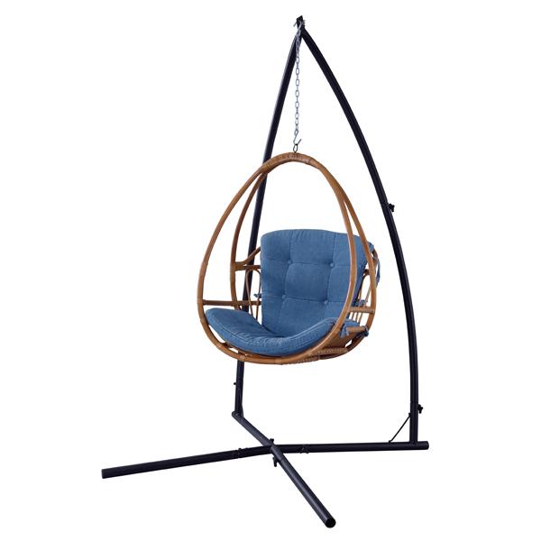 ハンギングチェア ソファ 1P 1人用 パーソナルチェア 屋外 籐 スイングチェア リラックスチェア ラタン ハンモック たまご型 ガーデン 椅子 イス いす クッション リゾート 読書 昼寝 アジアンテイスト おしゃれ かわいい 人気