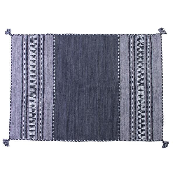 ラグマット シャニールラグ 130x190cm コットン 綿 フロアマット 柄 ラグ マット カーペット じゅうたん 絨毯 センターラグ リビングラグ シンプル おしゃれ 北欧 高級感 ネイビー