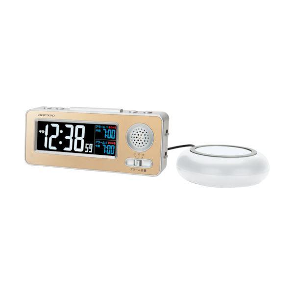 1個 アデッソ 振動式目覚まし電波時計MG-97