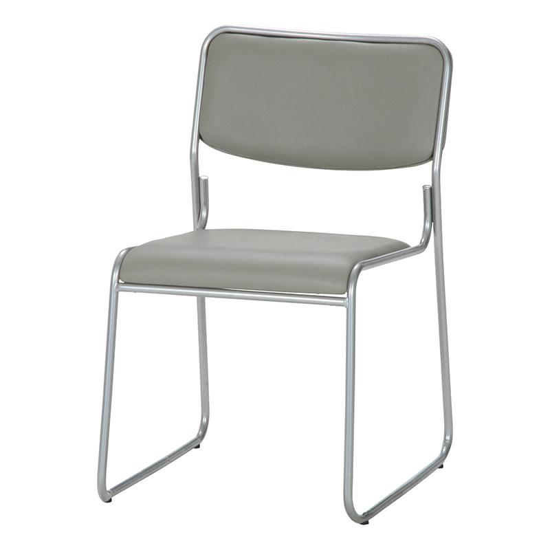送料無料 4脚セット ミーティングチェアー 椅子 チェア チェアー スタッキング パイプイス パイプ椅子 腰掛け いす イス玄関 キッチン 台所 リビング オフィス 会議 簡易 おしゃれ シンプル グレー