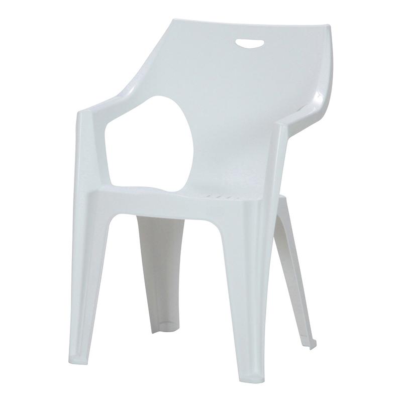 送料無料 4脚セット チェア ガーデンチェアー PCチェアー 肘付き アンジェロ プールサイド いす 椅子 イス ダイニングチェアー リゾート 庭 屋外 野外 アウトドア カフェ アジアン モダン シンプル おしゃれ かわいい ホワイト