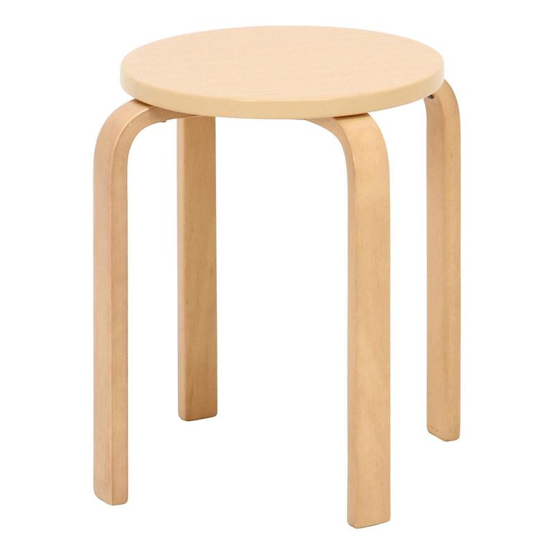 送料無料 6脚セット スツール 木製 曲脚 イス いす 椅子 チェア 花台 サイドテーブル ナイトテーブル モダン シンプル おしゃれ かわいい ナチュラル