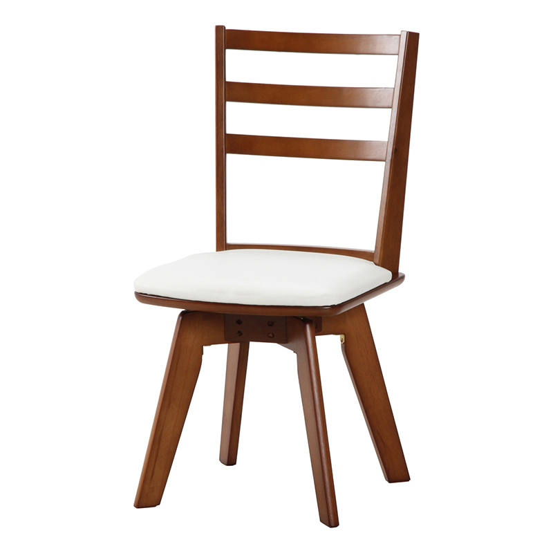 送料無料 ダイニングチェアー 2脚組 2脚セット 回転式 回転チェアー 合皮 1人掛け イス 椅子 いす チェアー チェア 食卓椅子 ウィング チェアー 高級感 おしゃれ デザイン ホワイト ミディアムブラウン