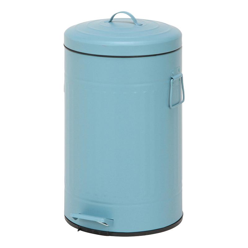 送料無料 6個入り スチール 円形 ラウンドペダルペール 12L ゴミ箱 ダストボックス ふた付き 蓋付き リビング キッチン シンプル 西海岸 男前インテリア おしゃれ かわいい スモークブルー