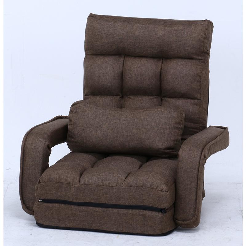 送料無料 4WAY座椅子 1人掛け リクライニング 座椅子 コンパクト 座椅子ベッド リクライニングチェアー フロアチェア リビングチェア 椅子 座イス チェア シンプル 北欧 モダン かわいい ダークブラウン