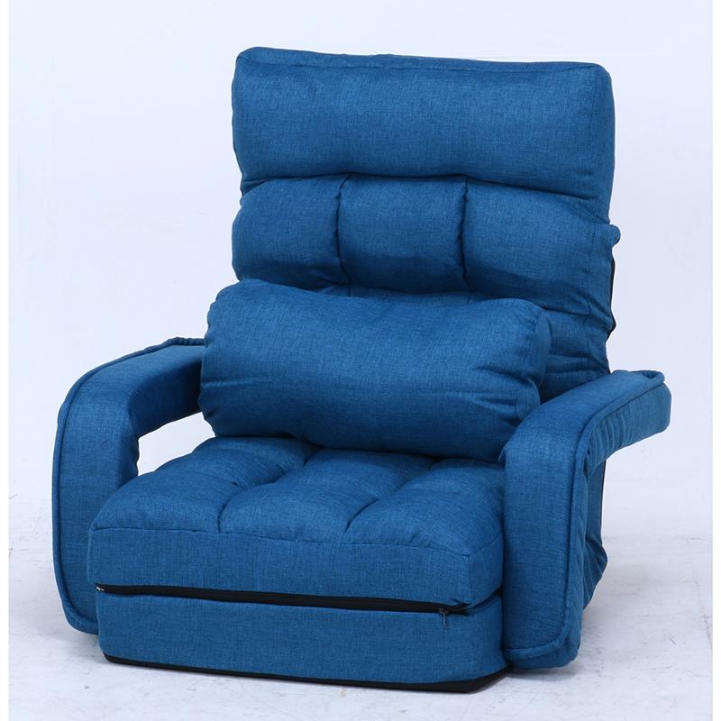 送料無料 4WAY座椅子 1人掛け リクライニング 座椅子 コンパクト 座椅子ベッド リクライニングチェアー フロアチェア リビングチェア 椅子 座イス チェア シンプル 北欧 モダン かわいい ネイビー