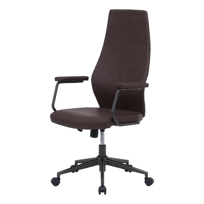 送料無料 レザーチェア ハイバック パソコンチェアー ロッキング機能 いす 椅子 オフィスチェアー ワークチェア 事務椅子 デスクチェア ワークチェア OAチェア シンプル モダン おしゃれ ブラウン