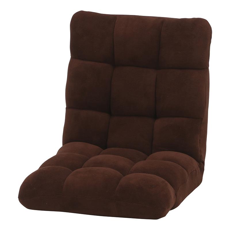 送料無料 4個入り ふわもこ フロアチェア 座椅子 リクライニング コンパクト 座イス チェア リラックスチェアー リクライニングチェアー フロアチェア リビングチェア ひとりかけ 1人掛け シンプル モダン おしゃれ ブラウン