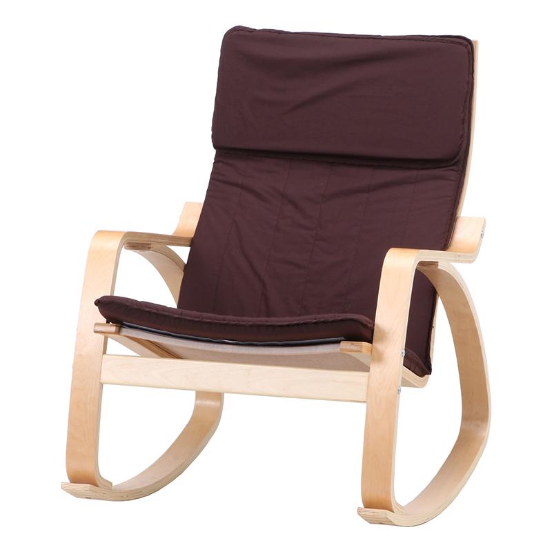 送料無料 ロッキングチェアー 木製 パーソナルチェア 一人掛け 1人掛け リラックス ロッキング ゆり椅子 肘付き ハイバック リビング シンプル 北欧 モダン かわいい おしゃれ ブラウン