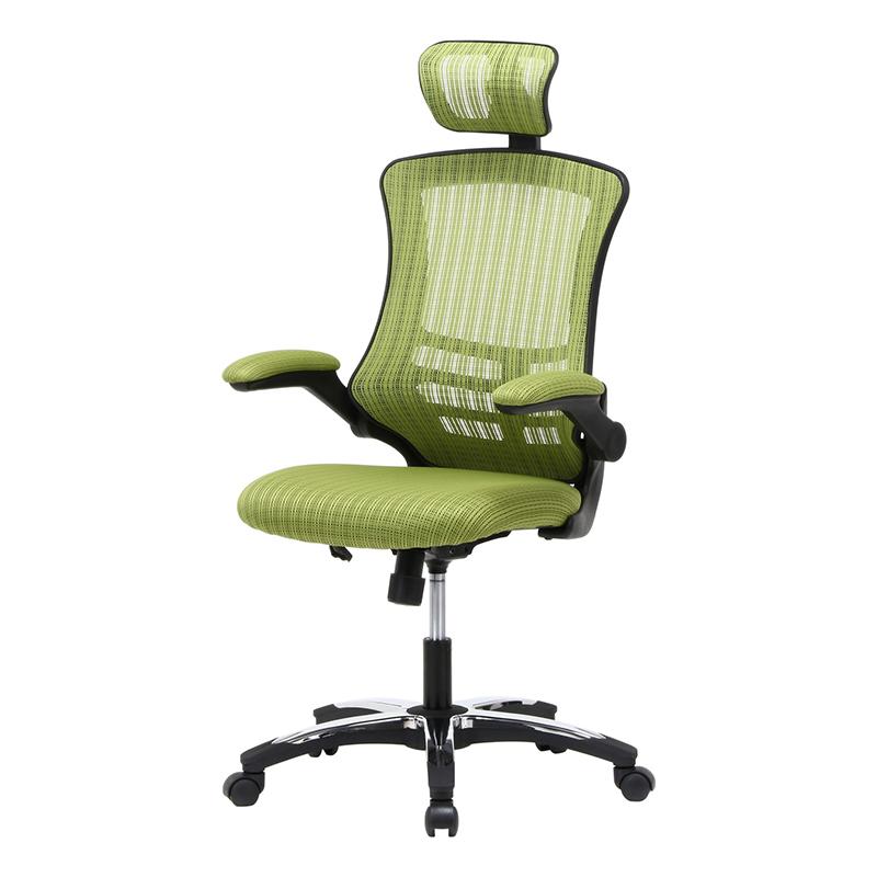 送料無料 アームアップチェアー パソコンチェアー ハイバック ロッキング いす 椅子 オフィスチェアー ワークチェア 事務椅子 デスクチェア ワークチェア OAチェア シンプル モダン おしゃれ グリーン