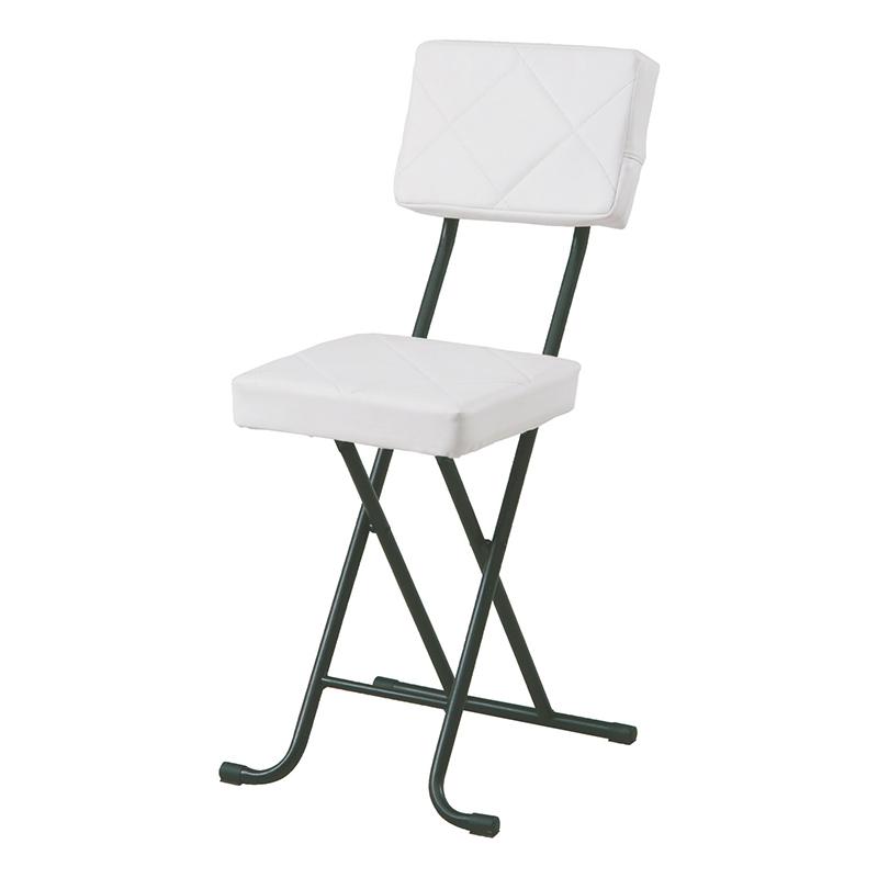 送料無料 4脚セット フォールディングチェアー スチール 折りたたみ チェアー いすイス 椅子 コンパクト リビング キッチン 会議室 シンプル モダン おしゃれ ホワイト