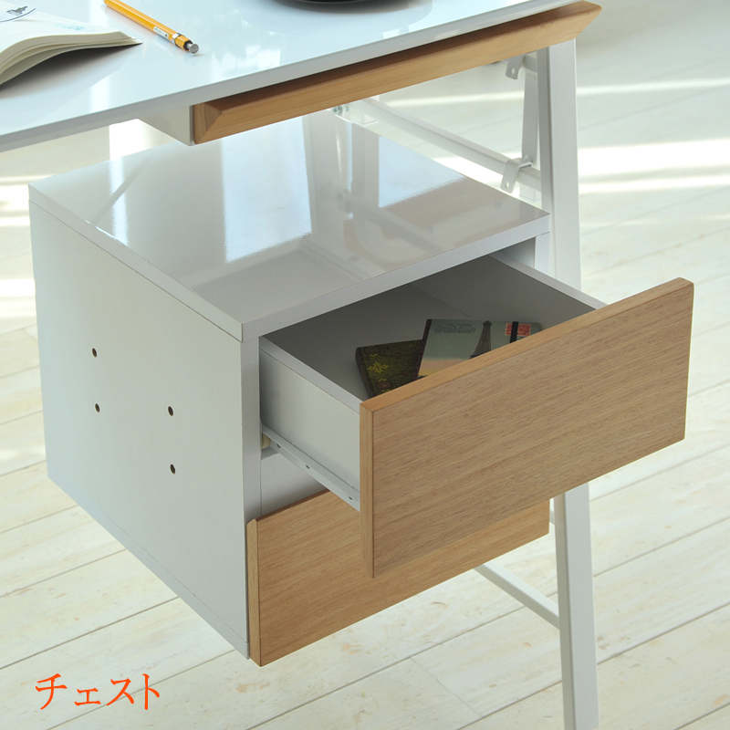 送料無料 Re・conte Ladder Desk NU (CHEST) nu-002