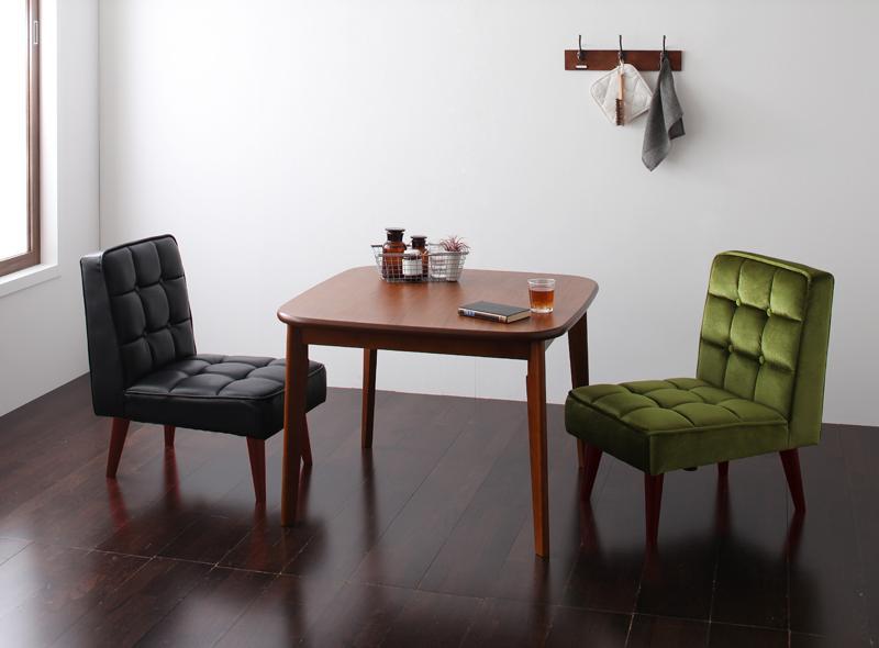 (送料無料) ダイニング テーブル セット 3点セット Aタイプ(テーブル幅90cm+チェア×2) 2人用 ウォールナット ダイニング3点セット 食卓3点セット 椅子 イス ダイニングチェアーセット ダーニー ダイニングセット チェア 木製テーブル モダン 北欧 ひとり暮らし おしゃれ