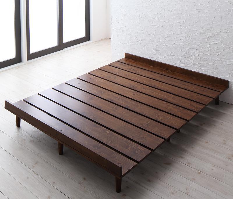 (送料無料) ベッド ダブル フレームのみ すのこベッド ダブルベッド 木製ベッド デザインすのこベッド ベッドフレーム ローベッド フロアベッド 低いベッド スノコベッド 天然木 ロースタイル 北欧 ホテル 民泊 一人暮らし ワンルーム おしゃれ リスティー
