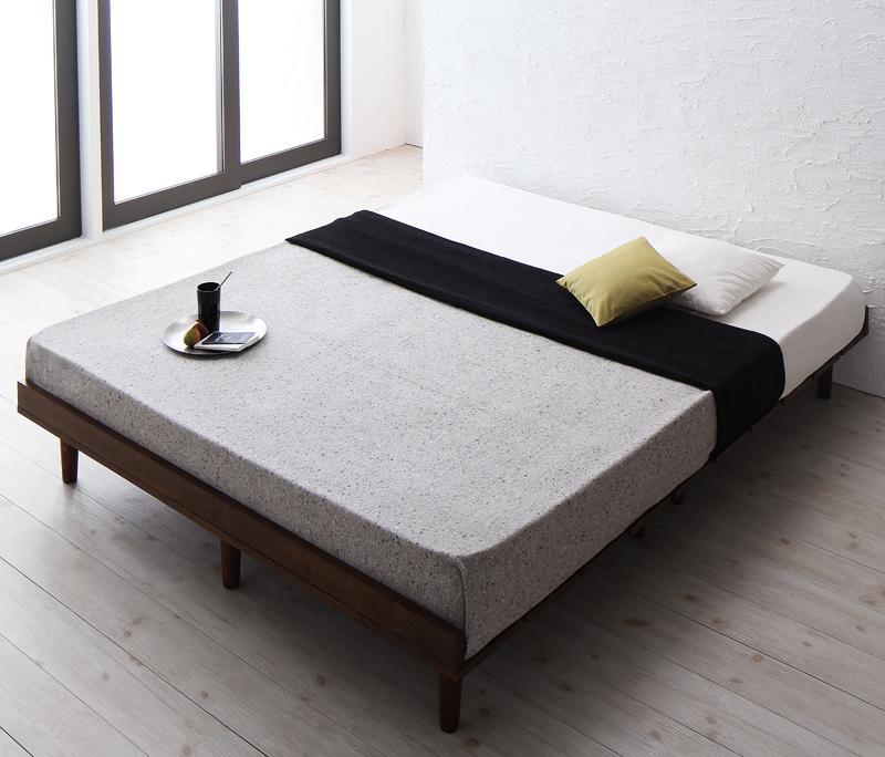 (送料無料) ベッド すのこベッド 【マットレス/ダブル:フレーム/ダブル:フルレイアウト】 木製ベッド デザインすのこベッド ベッドフレーム ローベッド フロアベッド 低いベッド 【マルチラススーパースプリングマットレス付き】 スノコベッド 天然木 リスティー 北欧