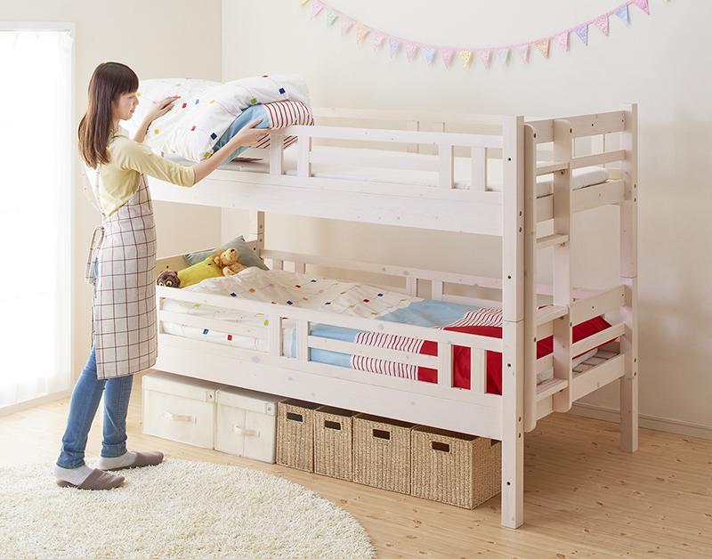 (送料無料) ベッド 2段ベッド (シングル・シングル) キニオン 耐荷重150kg 木製ベッド ロータイプベッド コンパクト ベット 二段ベット 2段ベット 床下活用 すのこ床板 子供用ベッド 子供ベッド 大人用 子供部屋 新入学 すのこ 北欧