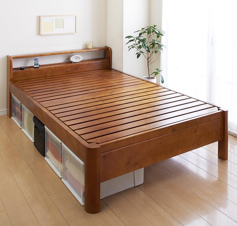 (送料無料) すのこベッド シングル ベッド ベット フレームのみ 高さ3段階調節 高さ調整 耐荷重600kg 木製ベッド ヘッドボード 宮付き 棚付き コンセント付き シングルベッド 頑丈すのこベッド スフォルツァ 床下活用 収納スペース 通気性 スノコベッド