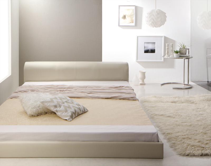 【送料無料】 スノコ すのこベッド すのこベット 木製 ベッド ベット ローベッド ブラック 黒 Motif モティフ マルチラススーパースプリングマットレス付き セミダブル 040119327