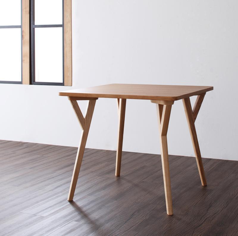 (送料無料) 北欧 モダン ダイニングテーブル単品 幅80cm おしゃれ 2人掛け テーブル 80×80cm 机 コンパクト デスク 作業台 木製テーブル 食卓テーブル ダイニング イラーリ リビングテーブル 天然木 木目
