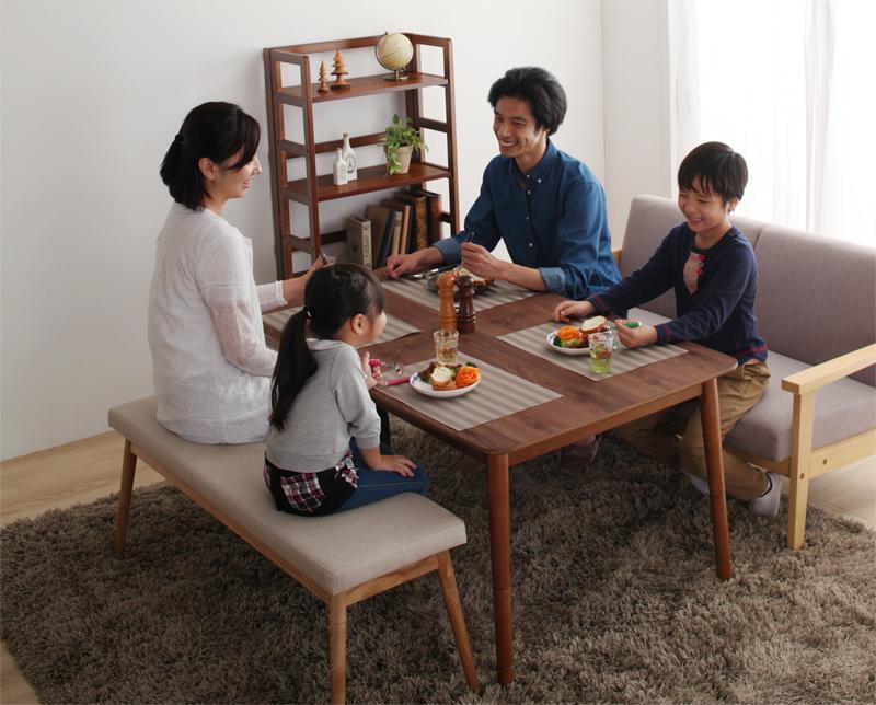 天然木ウォールナット材高さ調整こたつテーブル こたつ ノーラン ブラウン 炬燵テーブル 電気こたつ (送料無料) 長方形 80×135cm Nolan テーブル 4段階で高さが変えられる