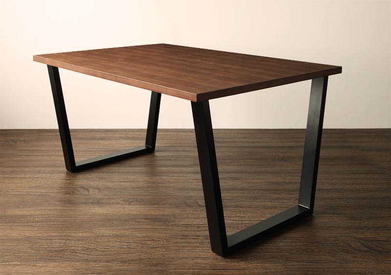(送料無料) ダイニングテーブル 幅120 奥行80 高さ64cm 天然木 ウォールナット 西海岸 ヴィンテージスタイル リビングダイニング CISCO シスコ 食卓テーブル スチール脚 高級感 おしゃれ