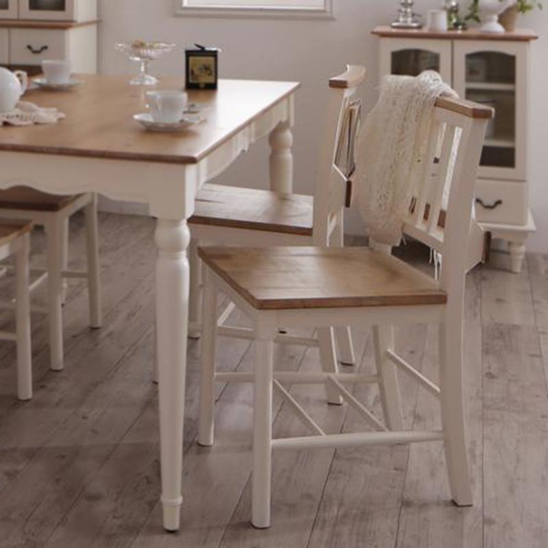 (送料無料) チャーチチェア (2脚組) チェア チェアー フレンチシャビーテイストシリーズ家具 リーリウム チャーチチェアー 2脚セット いす イス 椅子 ダイニングチェア ホワイト 白 高級感 おしゃれ
