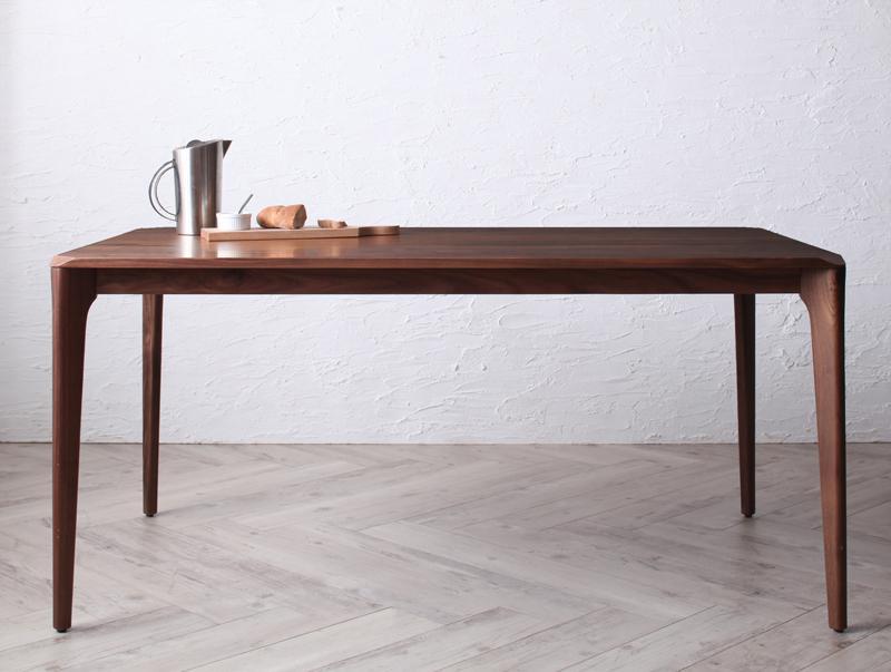 (送料無料) ダイニングテーブル単品 幅150×奥行85 ウォールナット 無垢材 北欧デザイナーズダイニング シュプリメイト 4人掛け 4人用 テーブル 食卓テーブル カフェテーブル 机 つくえ 作業台 4人掛け 4人用 木製 高級感 おしゃれ 北欧